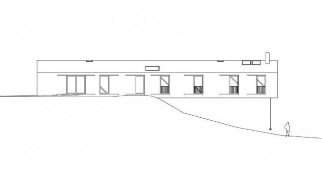 Вилла Balancing Barn. Западный фасад