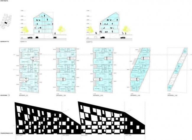 Выставочный жилой квартал на Кауфхаус-канале. Типовой многоквартирный дом