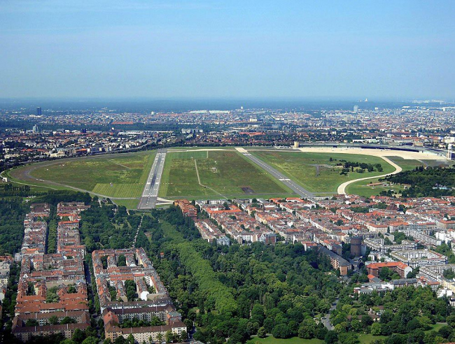 Аэропорт Темпельхоф сегодня. Вид с севера