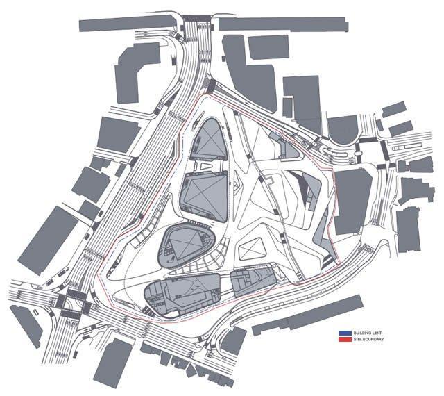Дондэмун Дизайн Плаза и Парк. Проект 2009. Ситуационный план © Zaha Hadid Architects