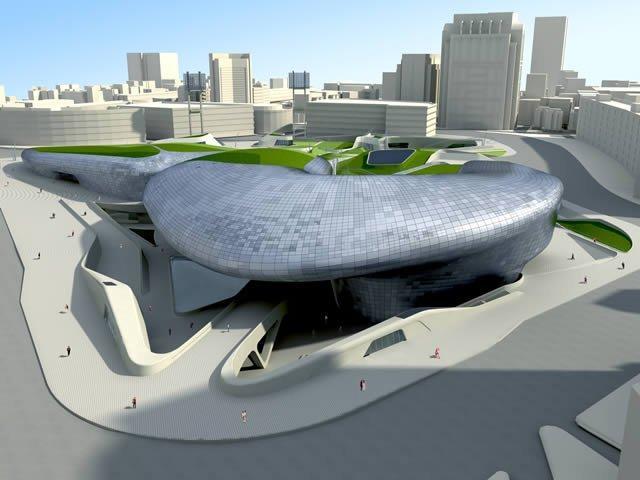 Дондэмун Дизайн Плаза и Парк. Проект 2009 © Zaha Hadid Architects