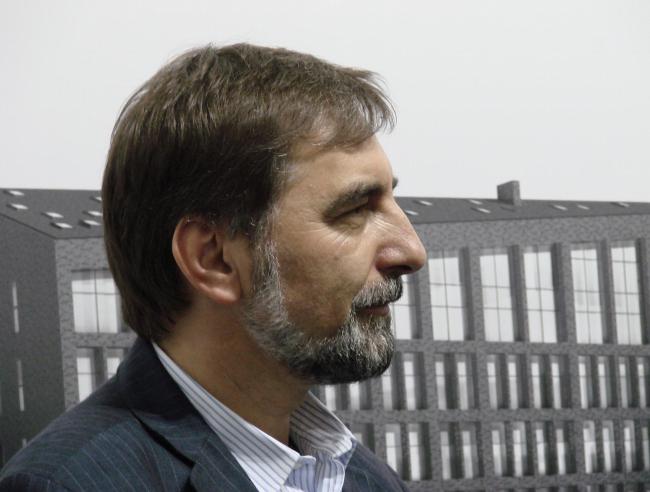 Сергей Скуратов на открытии персональной выставки «Архитектор года»