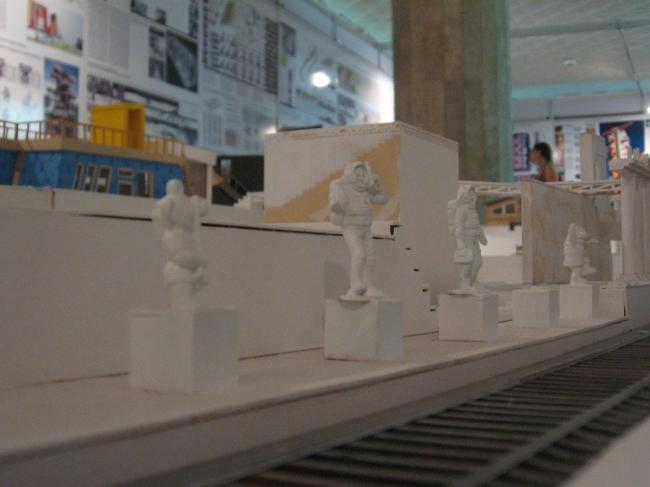 Экспозиция школы Малахова-Репиной. «Город одиноких холостяков»