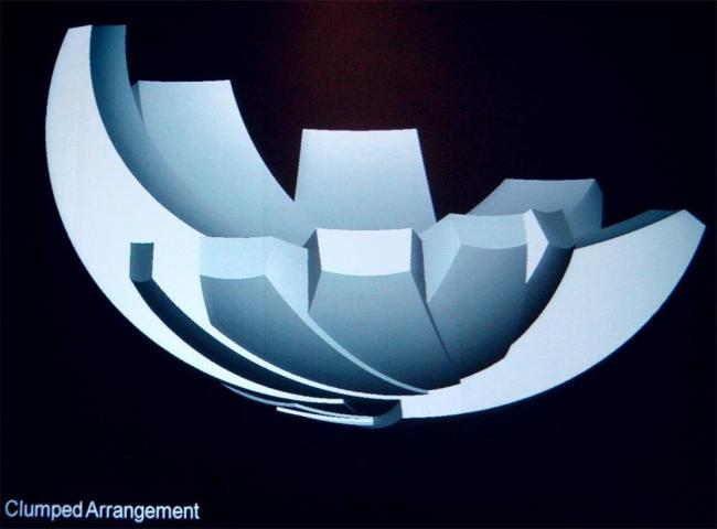 Марина Бэй Сэндз, Сингапур. Модель формы Музея искусств