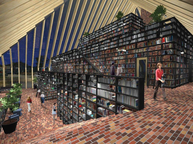 Библиотека города Спейкениссе © MVRDV