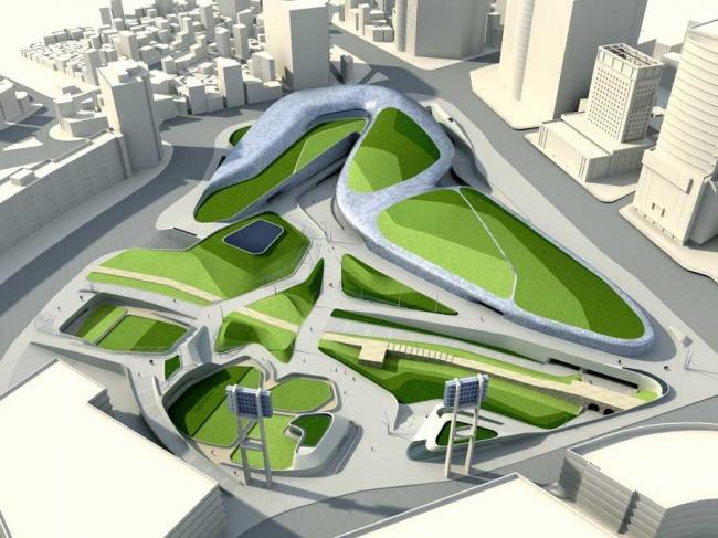 Дондэмун Дизайн Плаза и Парк © Zaha Hadid Architects