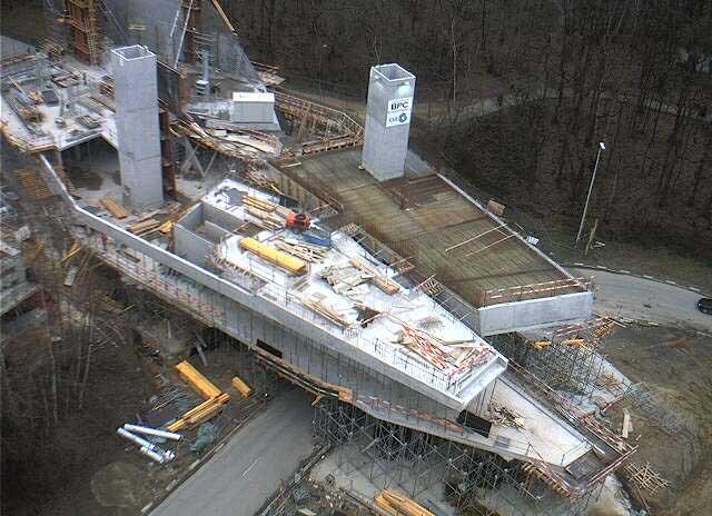 Музей Эрже в процессе строительства