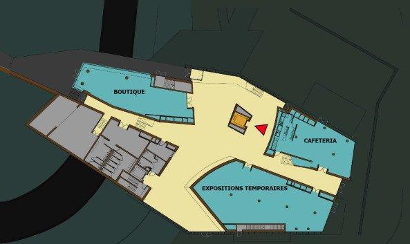 Музей Эрже. План 2-го этажа