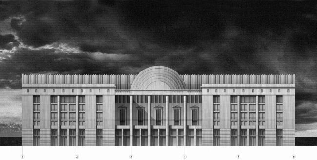 Администрация города Перми. Главный фасад