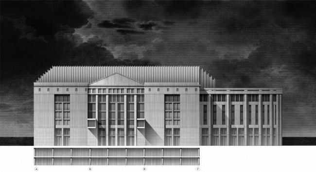 Администрация города Перми. Боковой фасад