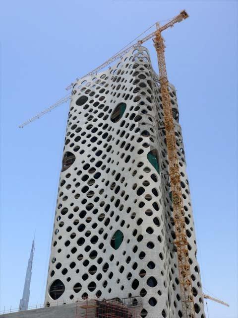 Башня O-14 в процессе строительства.  Photo: Imre Solt