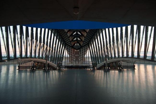Железнодорожная станция TGV в аэропорту Лиона. Фото: Ash Berlin via Wikimedia Commons. Лицензия CC-BY-SA-2.0