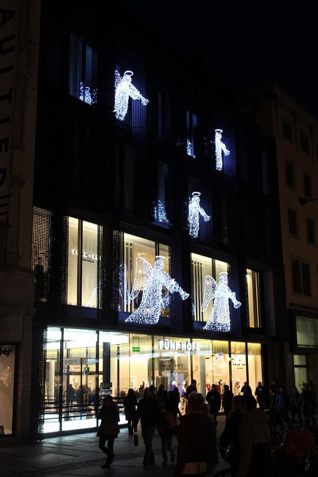 Торговый центр Funf Hofe. Фото: Falschparkerin via Wikimedia Commons. Лицензия CC-BY-SA-4.0