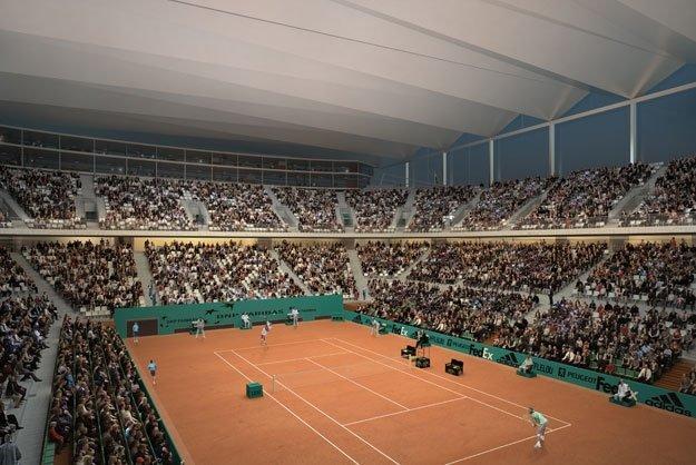 Новый теннисный стадион Ролан-Гаррос © Arte Factory/Marc Mimram