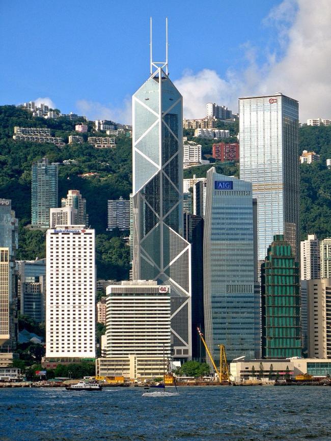 Башня Китайского банка. Фото: WiNG via via Wikimedia Commons. Лицензия CC BY 3.0