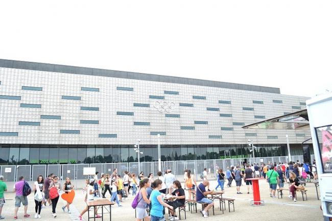 Олимпийский хоккейный стадион. Фото: Fringio via Wikimedia Commons. Лицензия CC BY-SA 4.0