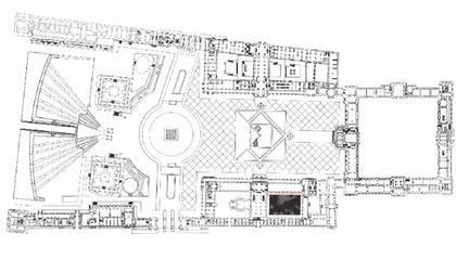 Крыло исламского искусства Лувра. План музея с новой постройкой © M. Bellini – R. Ricciotti / Musée du Louvre