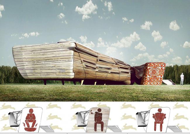 Дом-автоном.  Дача 21-го века. Проект, показанный на выставке «Новые имена», Арх Москва – 2009