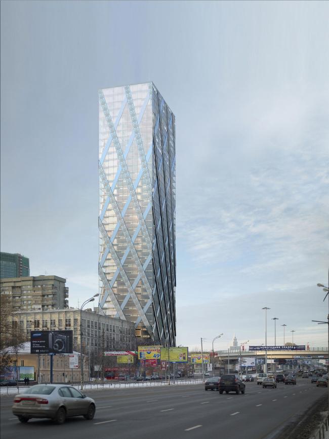 Административно гостиничный комплекс на Беговой улице. KPF - Concept, Schematic. ADM - Стадия Проект
