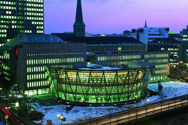 Городская библиотека Дортмунда. Фото: via Wikimedia Commons. Лицензия GNU Free Documentation License, Version 1.2
