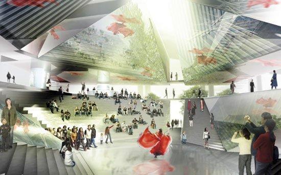 Павильон Дании на ЭКСПО-2010 - конкурсный проект