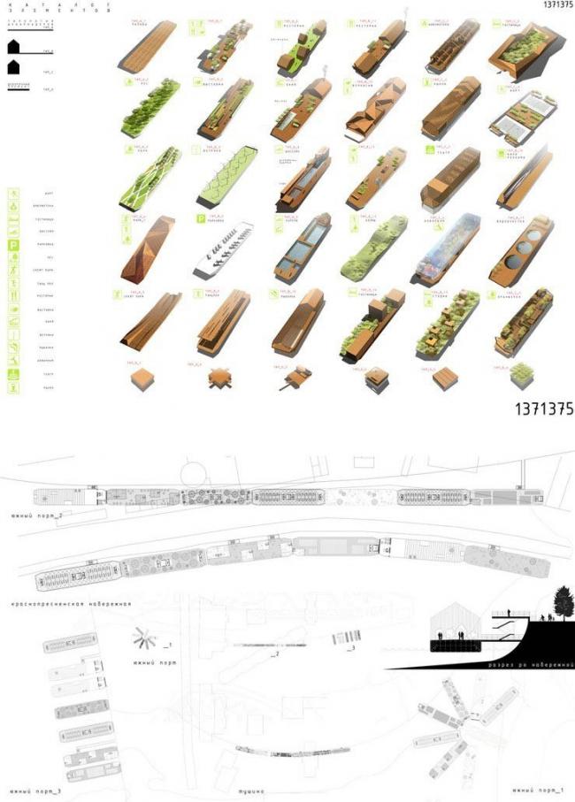 Набор элементов. Проект Меганом. Изображение предоставлено Ц:СА
