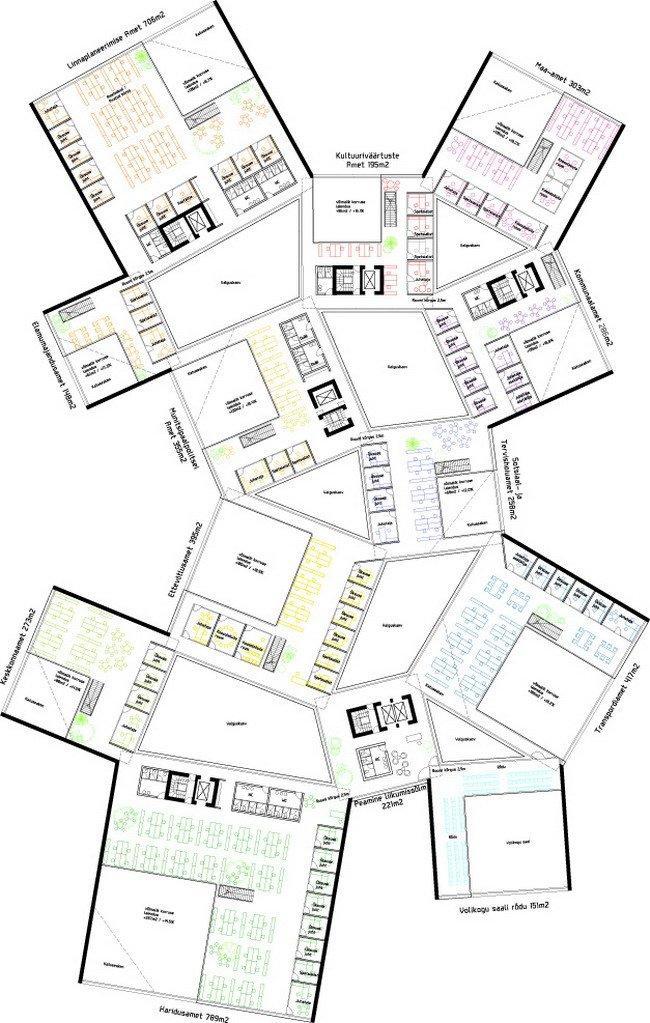 Таллинская ратуша. План 4-го этажа