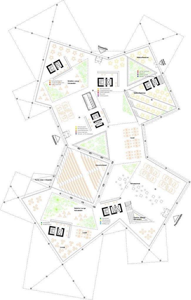 Таллинская ратуша. План 1-го этажа