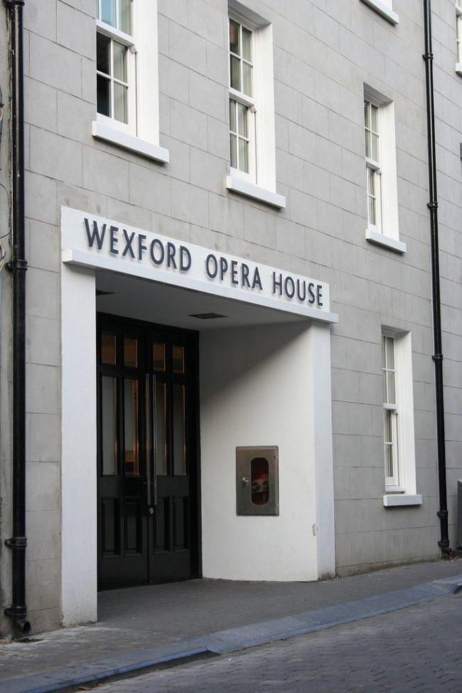 Уэксфордский оперный театр. Уличный фасад