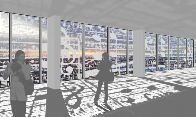 Комплекс офисных зданий на улице Северная, г. Краснодар. Прокофьев-плаза. 3D визуализация офисного пространства
