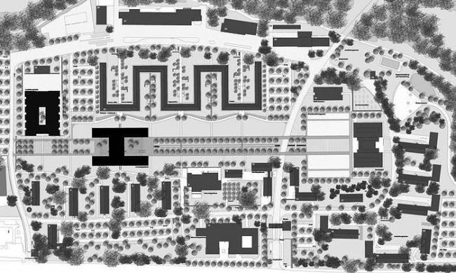 Казармы инженерных войск Ауф-дер-Шанц. План © gmp