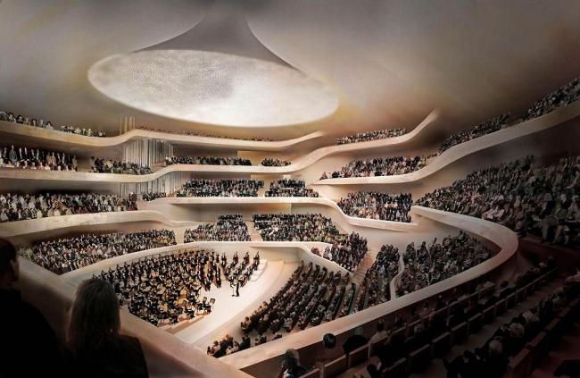 Здание Гамбургской филармонии Elbphilarmonie © Herzog & de Meuron