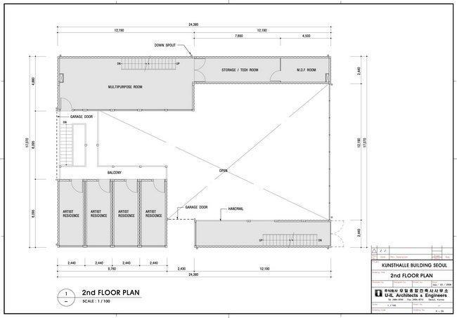 Центр Platoon Kunsthalle. План 2-го этажа © GRAFT