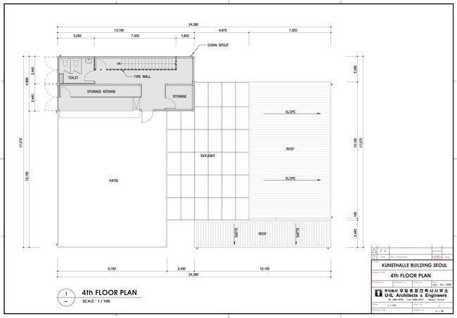 Центр Platoon Kunsthalle. План 4-го этажа © GRAFT