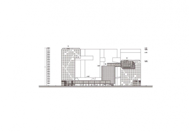 Комплекс Linked Hybrid. Фасад © Steven Holl Architects