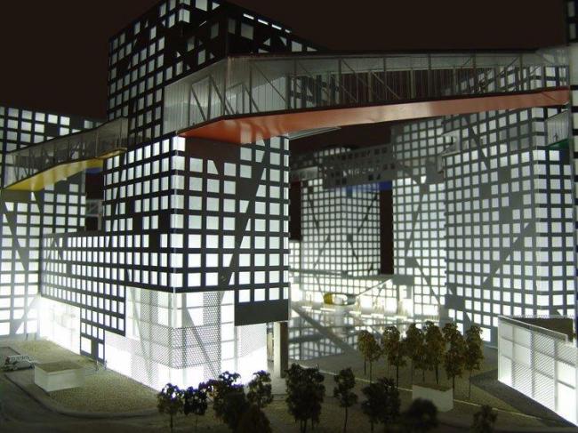 Комплекс Linked Hybrid. Проект © Steven Holl Architects