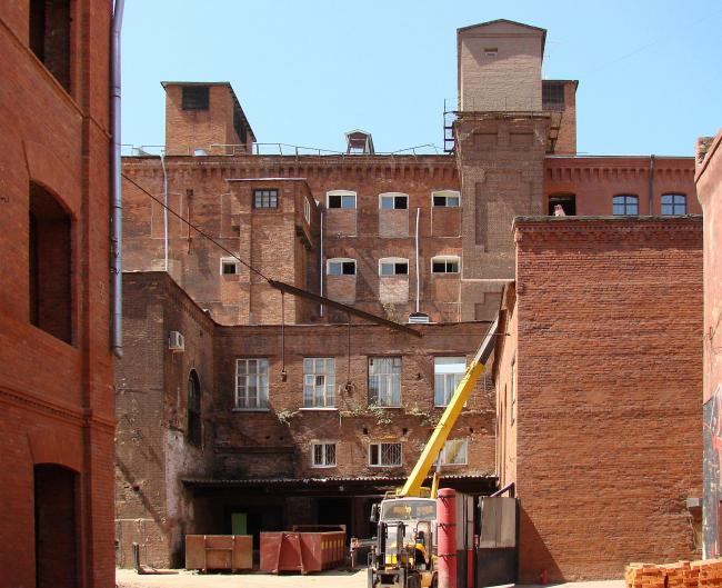 Даниловская мануфактура в процессе реконструкции под офисный лофт. Фотография Ю. Тарабариной