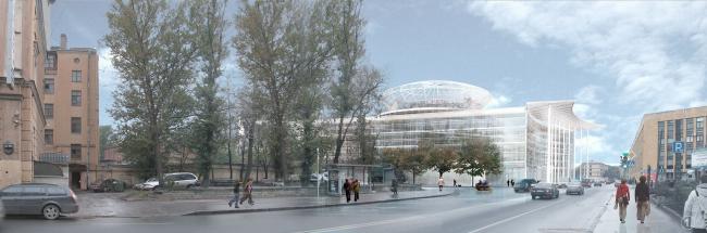 Административный и общественно-деловой комплекс «Невская ратуша». Проект, 2007 © Евгений Герасимов и партнеры