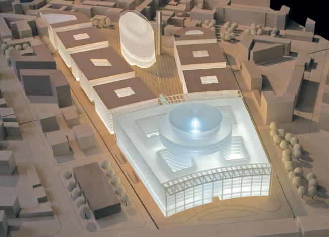 Административный и общественно-деловой комплекс «Невская ратуша». Макет. Проект, 2007 © Евгений Герасимов и партнеры