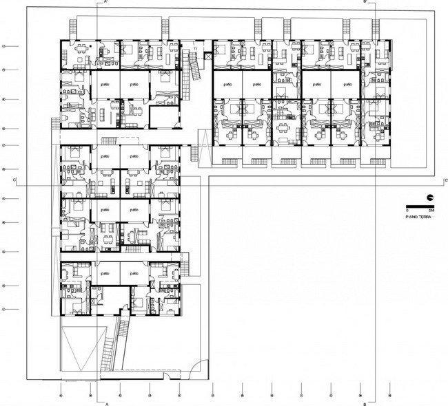 Жилой комплекс Сереньо. План 1-го этажа © Stefano Boeri Architetti
