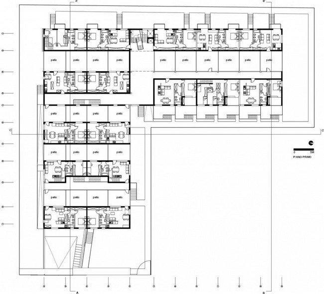 Жилой комплекс Сереньо. План 2-го этажа © Stefano Boeri Architetti