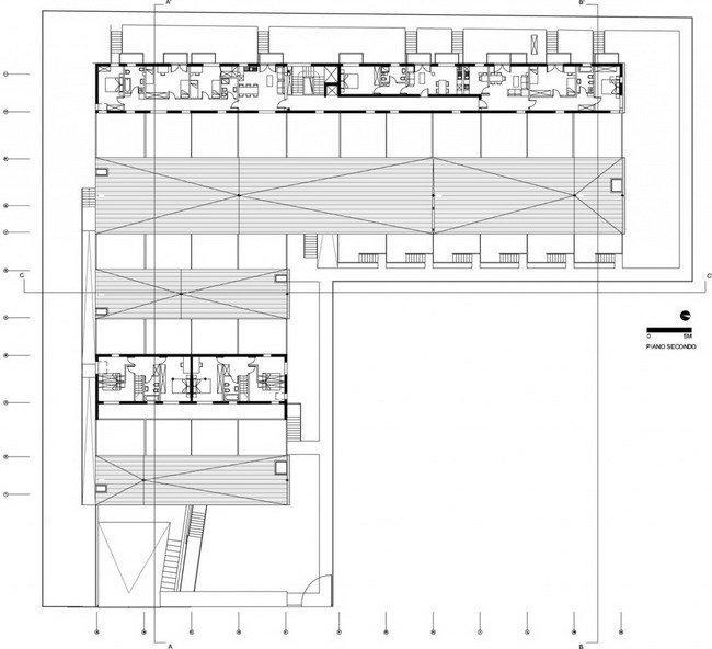 Жилой комплекс Сереньо. План 3-го этажа © Stefano Boeri Architetti