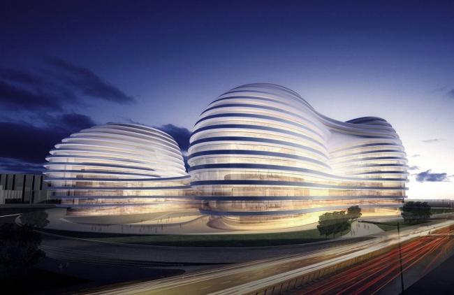 "Комплекс ""Чаоянмэнь SOHO"" (с) Zaha Hadid Architects"