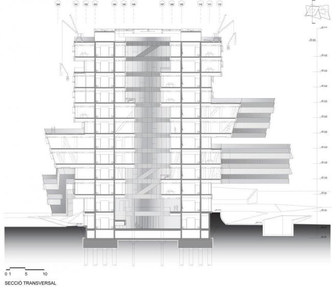 Спиральная башня. Разрез