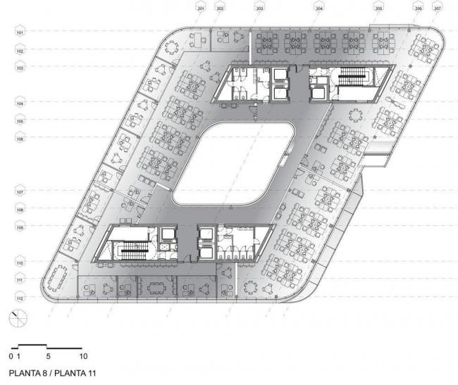 Спиральная башня. План уровня 8-11