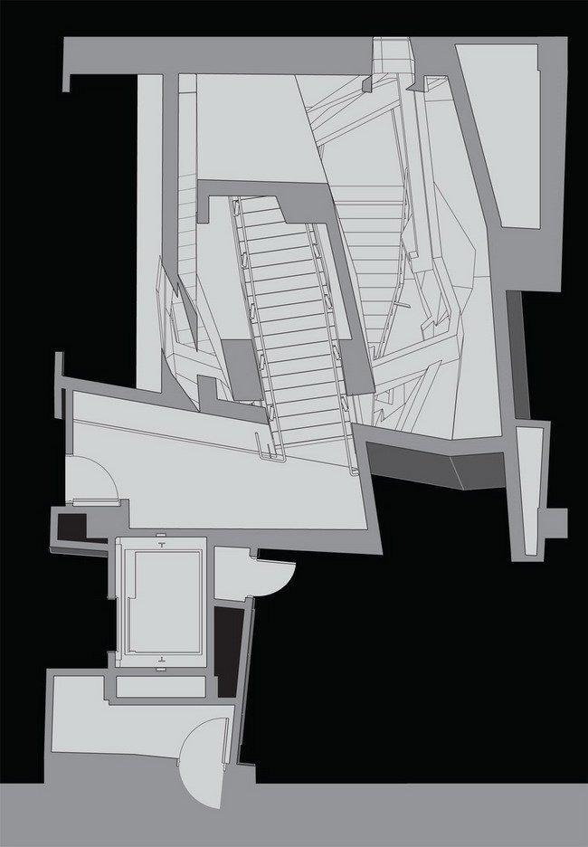 Центр астрономии и астрофизики Кэхилла. План лестничной клетки © Morphosis