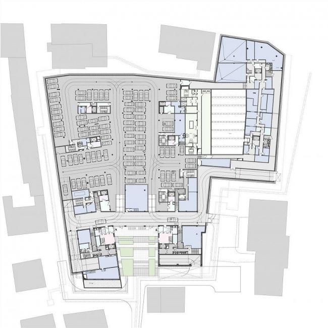 Жилой комплекс в 1-ом Тружениковом переулке. Проект, 2008-2009 © ADM