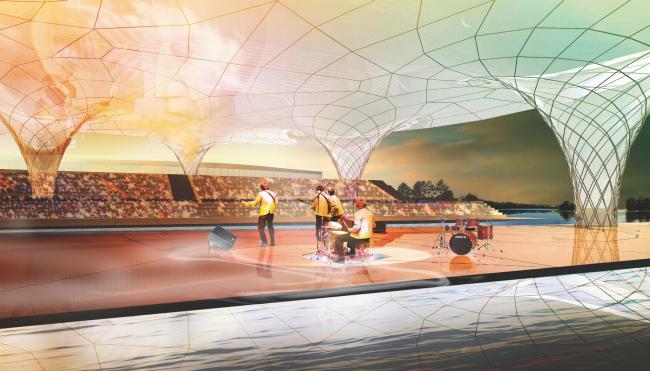 Экспофорум. Амфитеатр. Проект, 2009 © SPEECH, Евгений Герасимов и партнеры