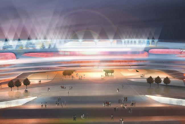 Экспофорум. Входная арка. Проект, 2009 © SPEECH, Евгений Герасимов и партнеры