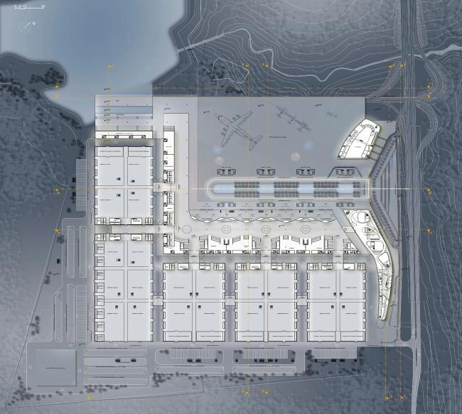Конгрессно-выставочный комплекс «Экспофорум» на Петербургском шоссе. План 1 этажа © SPEECH, Евгений Герасимов и партнеры